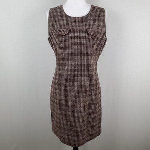 VTG Anthropologie Wool Plaid Sleeveless Dress